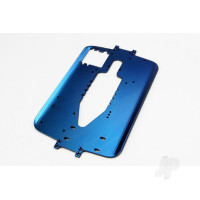 Chassis, 6061-T6 aluminium (4.0mm) (blue) (standard replacement for all Maxx series)
