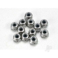 Nuts, 2.5mm nylon locking (12 pcs)