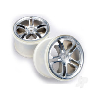 Wheels, SS (split spoke) 3.8in (satin) (2pcs) (fits Revo / Maxx series)