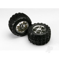 Chrome split-spoke wheels & Tyres (Pair)