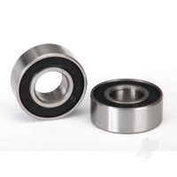 Ball bearings, black rubber sealed (6x13x5mm) (2 pcs)