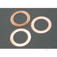 Gaskets, cooling head: 0.15, 0.25, 0.35mm (1 each) (TRX 2.5, 2.5R)
