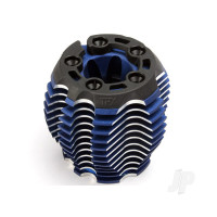 Cooling head, PowerTune (machined aluminium, blue-anodized) (TRX 3.3), head protector (1pc), 3x6mm CCS (5pcs)