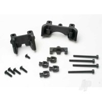 Shock mounts (front & rear) / wire clip (1pc) / chassis wire clips (4pcs) / 3x32mm CS (4pcs) / 3x6mm BCS (1pc)