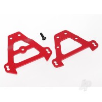Bulkhead tie bars, front & rear (red-anodized aluminium)