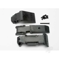 Skid plate set, front (2 pieces, plastic) / skid plate, rear (1 piece, plastic)