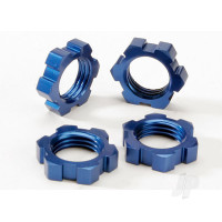 Wheel nuts, splined, 17mm (Blue-anodized) (4 pcs)
