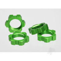 Wheel nuts, splined, 17mm (green-anodized) (4pcs)