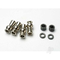 Hollow ball, tall centered (2pcs) / tall offset hollow ball (2pcs) / bump steer adjustment shims; 3.5mm (2pcs), 1.17mm (2pcs)
