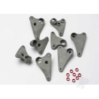 Rocker arm set, progressive-2 (90-T) / spacers (red aluminium) (8pcs)