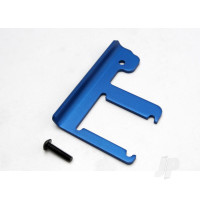 Chassis brace, Revo (3mm 6061-T6 aluminium) (blue-anodized) / 4x16mm BCS