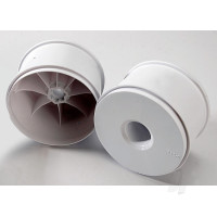 Wheels, dished 3.8in (white) (2pcs) (use with 17mm splined wheel hubs and wheel nuts, part #5353X)