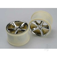 Wheels, Gemini 3.8in (chrome) (2pcs) (also fits Maxx series)