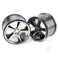 Wheels, Gemini 3.8in (black chrome) (2pcs)