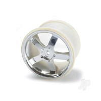 Wheels, Hurricane 3.8in (chrome) (2pcs) (also fits Maxx series)