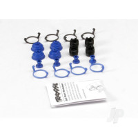 Pivot ball caps (4pcs) / dust boots, rubber (4pcs) / dust plugs, rubber (4pcs) / dust boot retainers, black (4pcs), blue (4pcs) (2 pkgs. req. to complete truck)