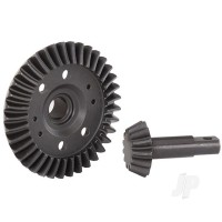 Ring gear, differential / pinion gear, differential (machined, spiral cut) (front)