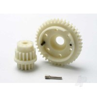 Gear set, 2-speed close ratio (2nd speed gear 40T, 13T-16T input gears, hardware)
