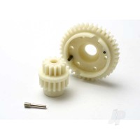 Gear set, 2-speed standard ratio (2nd speed gear 39T, 13T-17T input gears, hardware)