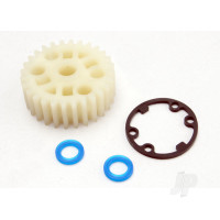Gear, center differential (Revo) / X-ring seals (2pcs) / gasket (1pc) (Replacement gear for 5414)