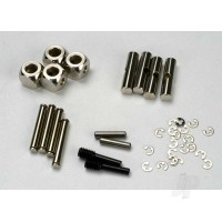 U-joints, driveshaft (carrier (4pcs) / 4.5mm cross pin (4pcs) / 3mm cross pin (4pcs) / e-clips (20)) (metal parts for 2 driveshafts)