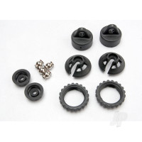 Caps and spring retainers, GTR shock (upper cap (2pcs) / hollow balls (2pcs) / bottom cap (2pcs) / upper retainer (2pcs) / lower retainer (2pcs))