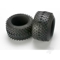 Tires, SportTraxx racing 3.8in (soft compound, directional and asymmetrical tread design) / foam inserts (2pcs)