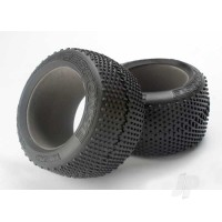 Tires, Response racing 3.8in (soft-compound, narrow profile, Short knobby design) / foam inserts (2pcs)