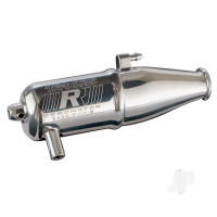 Tuned pipe, Resonator, R.O.A.R. legal (dual-chamber, enhances mid to high-rpm power) (for Jato, N. Rustler, N. 4-Tec with TRX Racing Engines)