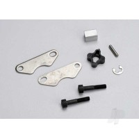 Brake pads (2pcs) / brake disc hub / 3X15 CS (partially threaded) (2pcs) / 2mm pin (1pc) / 4mm e-clip (1pc)