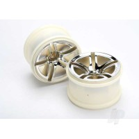 Wheels, Twin-Spoke 2.8in (chrome) (nitro front) (2pcs)