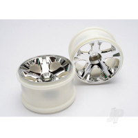 Wheels, All-Star 2.8in (chrome) (nitro rear / electric front) (2pcs)