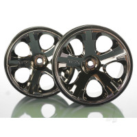 Wheels, All-Star 2.8in (black chrome) (nitro rear / electric front) (2pcs)