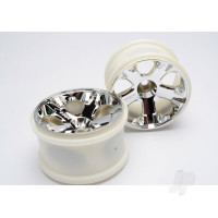 Wheels, All-Star 2.8in (chrome) (nitro front) (2pcs)