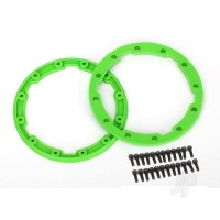 Sidewall protector, beadlock style (green) (2pcs) / 2.5x8mm CS (24) (for use with Geode wheels)