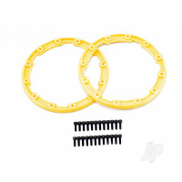 Sidewall protector, beadlock style (yellow) (2pcs) / 2.5x8mm CS (24) (for use with Geode wheels)