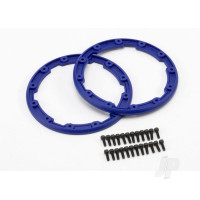 Sidewall protector, beadlock style (blue) (2pcs) / 2.5x8mm CS (24) (for use with Geode wheels)