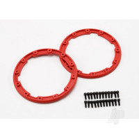 Sidewall protector, beadlock style (red) (2pcs) / 2.5x8mm CS (24) (for use with Geode wheels)