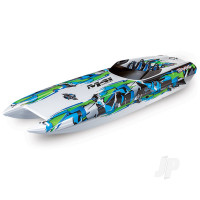 DCB M41 Widebody Brushless 40in RTR Race Boat, Green (+ TQi, CC 540XL, Marine VXL-6s, TSM, factory-applied graphics)