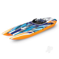 DCB M41 Widebody Brushless 40in RTR Race Boat, New Orange (+ TQi, CC 540XL, Marine VXL-6s, TSM, factory-applied graphics)