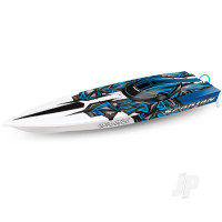 Electric Blue Spartan: Brushless 36in Race Boat (+ TQi ,TSM)