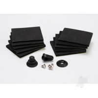 Hatch post / hull water outlet / foam pads (10pcs) / washer (1pc) / 4x8mm BCS, stainless steel / 3x4mm BCS, stainless steel
