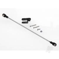Rudder pushrod, assembled / servo horn / 3x18mm BCS (stainless) (1pc) / 3x15mm CS (stainless) (1pc) / 3x6mm CS (stainless) (1pc) / NL 3.0 (1pc)