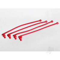 Body clip retainer, red (4pcs)