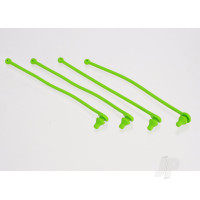 Body clip retainer, green (4pcs)