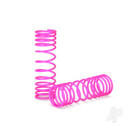Springs, front (pink) (progressive rate) (2pcs)
