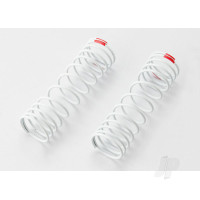 Springs, front (white) (progressive rate) (2pcs) (fits #5862 aluminium Big Bore shocks)