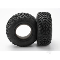 Tyres, ultra-soft, S1 compound for off-road racing, SCT dual profile 4.3x1.7- 2.2 / 3.0in (2pcs) / foam inserts (2pcs)