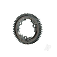 Spur gear, 54-tooth, steel (wide-face, 1.0 metric pitch)