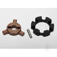 Cush drive key / pin / elastomer damper